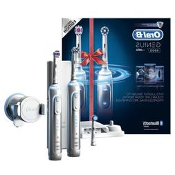 2 x Braun Oral-B GENIUS 8900 Electric Rechargeable Power Too