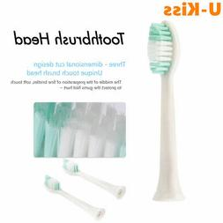 2pcs U-Kiss Electric Toothbrush Head Angled Neck And Contour