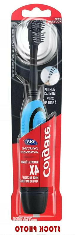 COLGATE 360 CHARCOAL ANTHRACITE Battery Operated SOFT Electr