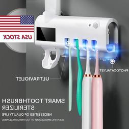 Auto Electric Toothbrush Sterilizer Holder UV Light with Too
