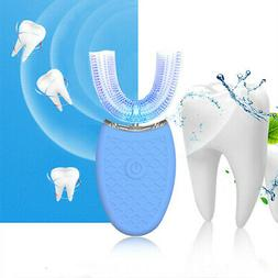 Automatic Electric Ultrasonic Toothbrush Hands Free 360°Whi