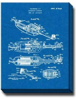 Electric Toothbrush Patent Canvas - Blueprint