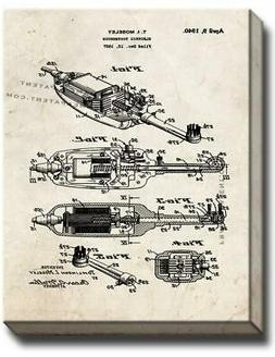Electric Toothbrush Patent Canvas - Old Look