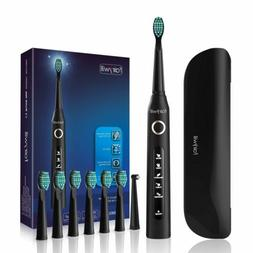 Portable Electric Toothbrush with Travel Case Black 5 Modes