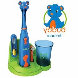 Children Electronic Toothbrush Set With Animal Head Cover Ri