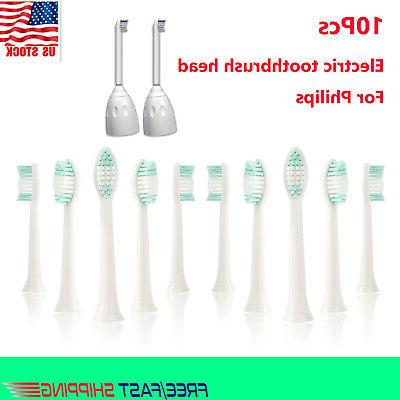 10Pcs Electric Toothbrush Head Replacement For Philips Sonic