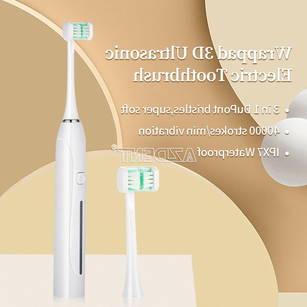 3sides ultrasonic electric toothbrush usb rechargeable ushap