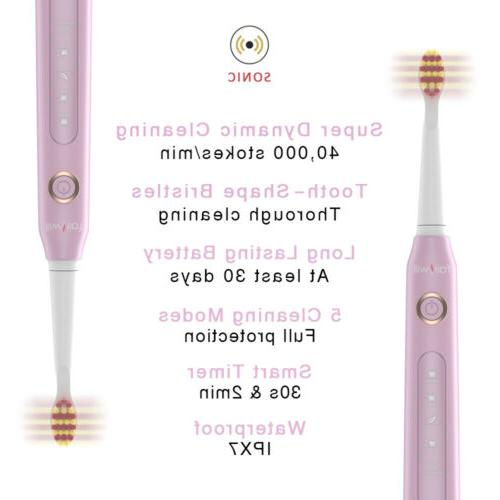 Fairywill Electric Toothbrush Sonic Clean 3 Heads