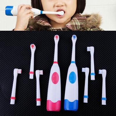 household battery rotary electric toothbrush 3 brush