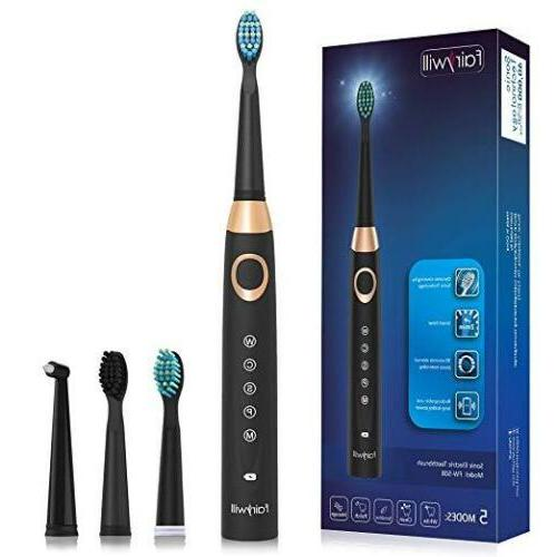 portable electric toothbrush usb rechargeable 5 mode
