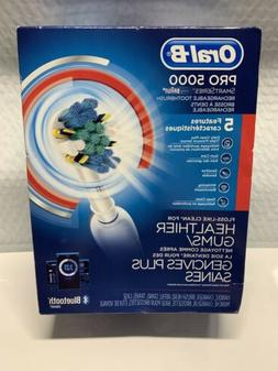 New Oral-B Pro 5000 Smart Series Rechargeable Electric BT To