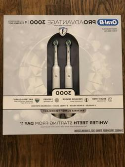 NEW! ORAL-B PRO Advantage 3000 Rechargeable Toothbrush - 2 P