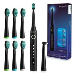 Fairywill Electric Toothbrush Rechargeable Black 5 Modes 7 R