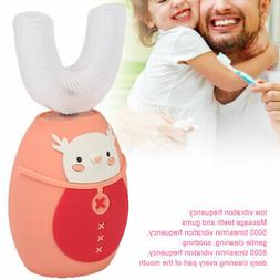 U-Shaped Children Sonic Electric Toothbrush Dental Plaque Re